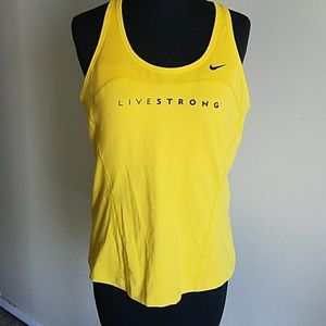 Nike dri-fit livestrong workout tank top